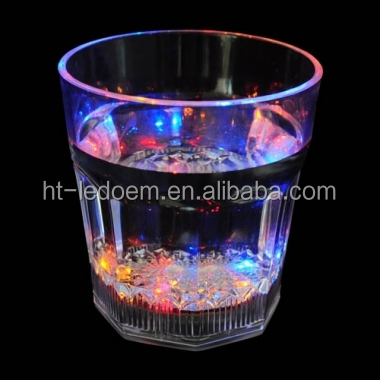 Colorful box packing small LED Light Up DrinkWare Bubble Rocks Cup for Party and House <strong>Decoration</strong>