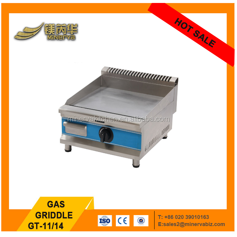 stainless steel flat plate gas grill griddle 3000w gas stove griddle ce approval mini pancake maker