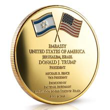 GERUSALEMME ISRAELE Coin-Commemorative Edition 2018 Presidente Donald Trump Israele Monete