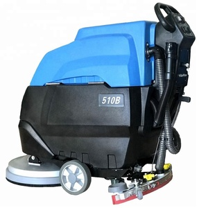 MLEE510B Hand Push Water Tank Floor Polisher Scrubber Electric Shop Marble Battery Power Floor Scrubber
