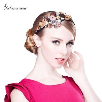 Classical Style fascinator Fashion beautiful of button hair accessories edcfa284b8f