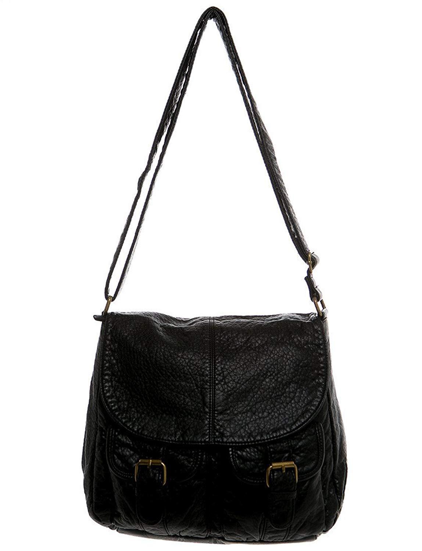 Get Quotations Vegan Leather Shoulder Handbag Purse Crossbody Eco Friendly By Ampere Creations
