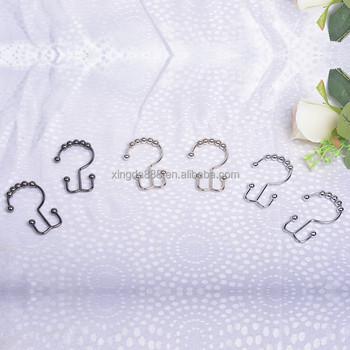 accessoires de rideau rideau de douche crochet douche crochets de rideaux anneaux double. Black Bedroom Furniture Sets. Home Design Ideas