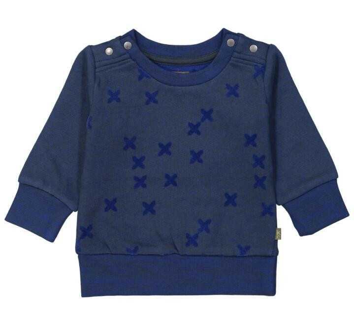2018 lastest long sleeve navy knitted sweater for boys