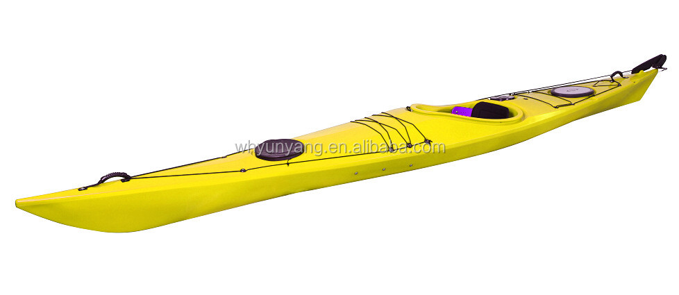 15ft Single Sea Kayak Ss-1 With Footrest Rudder System - Buy Sea  Kayak,Single Seat Plastic Sea Kayak,Ocean Kayaks Fishing Product on  Alibaba com