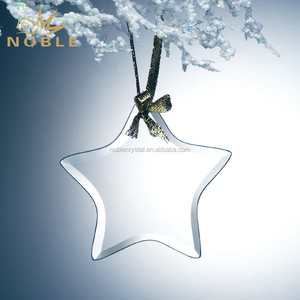 Beveled Star Shape k5 Crystal Hanging Ornament as Birthday Gift