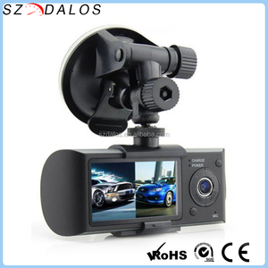 2.7 Inch Dual Camera R300 Manual Car Camera HD DVR X3000 GPS