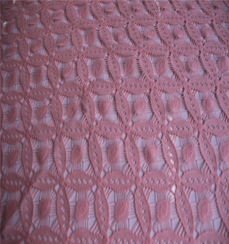 Hot sell good quality crystal lace embroidery fabric