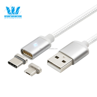 Nice desgin 2 in 1magnetic charging USB cable with Fast charging and high speed data transmission