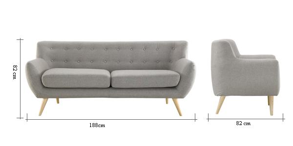 Retro Fabric Sofa Furniture In Living Room MY218 ALICE