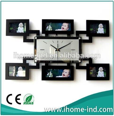 mdf cadre photo horloge murale avec design de mode ih. Black Bedroom Furniture Sets. Home Design Ideas