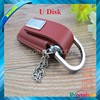 promotional gift leather usb/pu leather usb flash drive