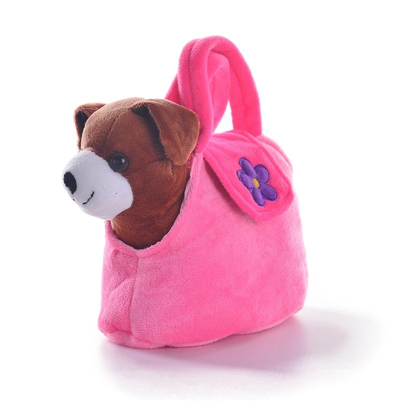 Navidad Juguetes Bolsa Perro Para Niños Peluche Con Mano Buy De Regalos Perrito Niñas Etiqueta Animales Muñecas Rosa mn0wN8