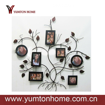 Family Tree Picture Frame Wall Hanging metal wall hanging family tree photo frame - buy funia photo frame