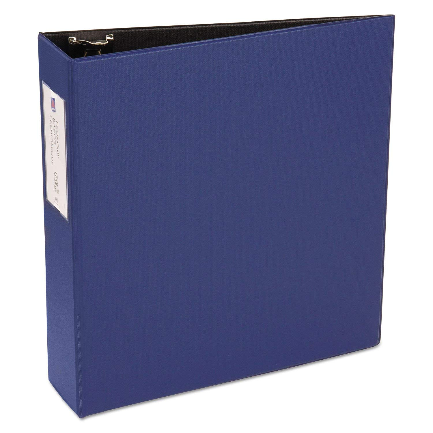 """Economy Non-View Binder with Round Rings, 11 X 8 1/2, 3"""""""" Capacity, Blue"""