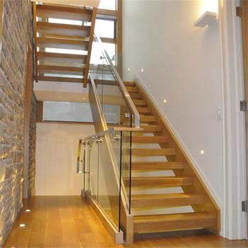 Interior Amrica Roble Escalera De Madera Con Acero Inoxidable Cable