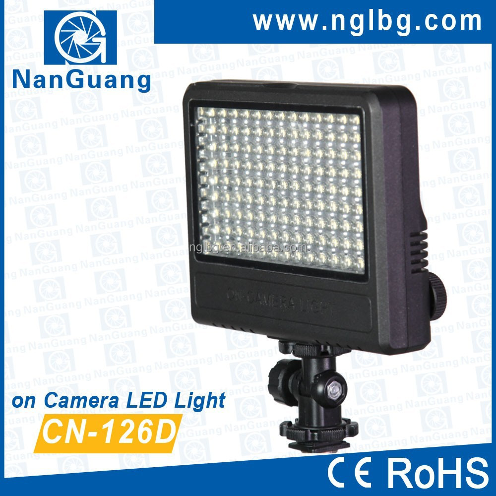 Nanguang 7.6W CN-126D on Camera LED Light Ra 95