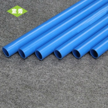 Manufacturer Endurable Blue Color Pvc Pipes For Water