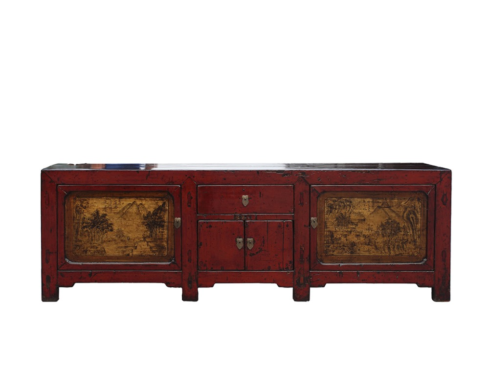 Factory direct supply chinese antique wood long sideboard