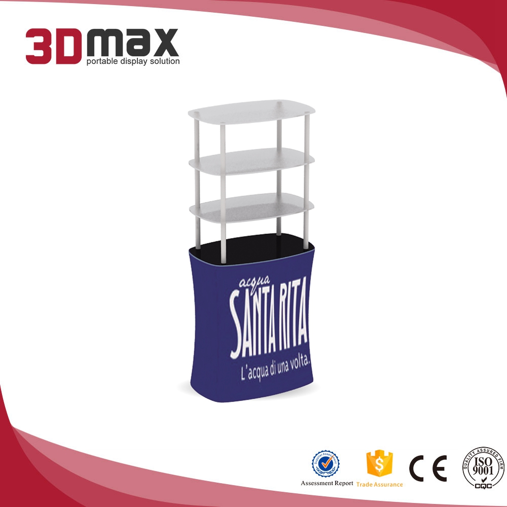 3D MAX cheap fabric Square Display Rack