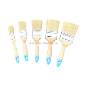Free sample hand tools 5 Piece Paint Bristle Brush Set with varnished wood handle