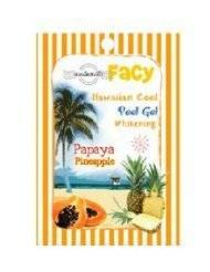 Beauty Set : Facy : Hawaiian Cool Peel Gel Whitening Papaya & Pineapple Beauty Product of Thailand ( by abobon )best sellers [Get Free Facial Hair Epicare Spring A1 Remover](set59801)