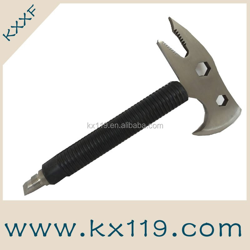 Stainless steel escape rescue axe fire fighting Multifunctional emergency rescue knife waist axe
