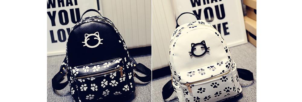 98b5cc6156 ... College Wind Shoulder Bag Casual Bags Female cat Pu Leather Kawaii  Backpacks Harajuku. SIZE  26 13 32CM (L W H). 1. DSF110 05 DSF110 06 ...
