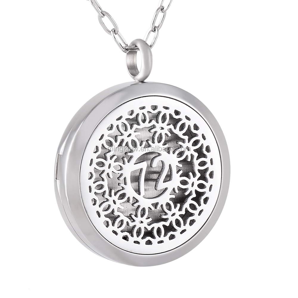 IJP0160 Stainless steel material women gift item 25mm, 30mm aroma diffuser necklace