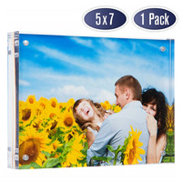Custom 3x4 4x6 inches Magnet Transparent Strong Acrylic A4 A5 A6 Magnetic Photo Picture Frame