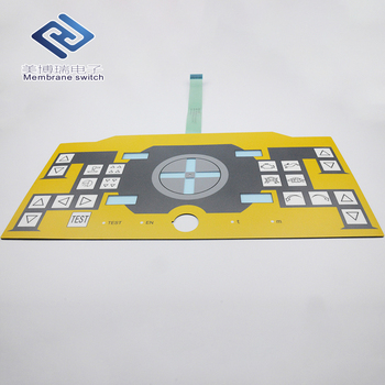 Custom CNC Membrane Keypad Push Button Membrane Switch with 3M Adhesive for Industrial Controller