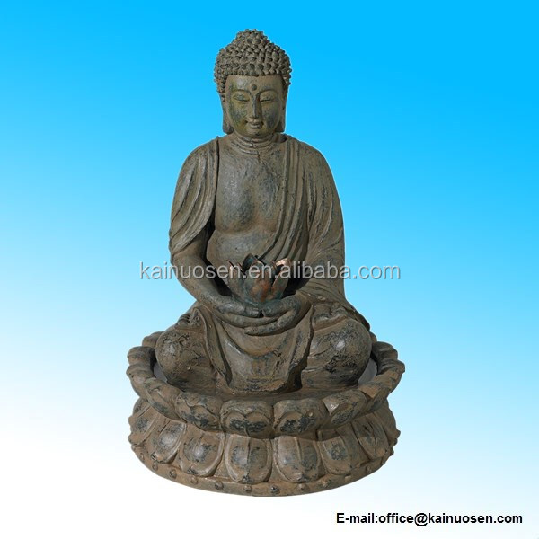 Buddha Antique Bronze LED Lighted Fountain
