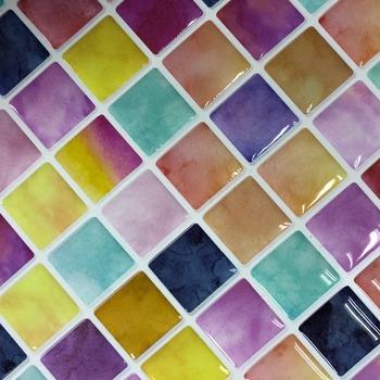 Home Accessories Tuile Mosaique Autocollante Wall Decoration Material  Bathroom Backsplash Tiles Dongguan