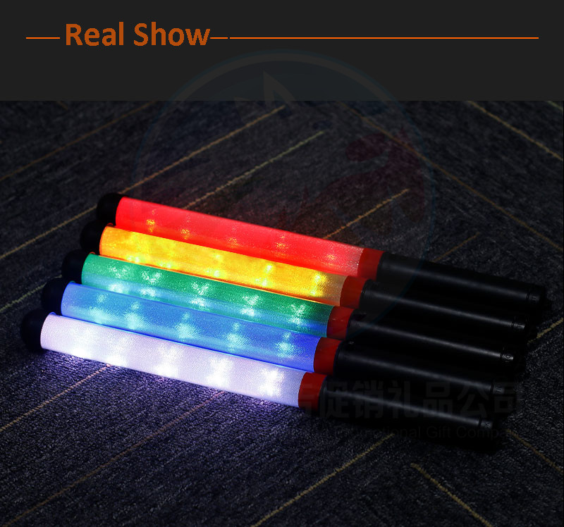 15Color Flashing  LED Light Stick Concert Cheering Props Multi-color Flashing LED Stick With Multi Zone  Remote Control