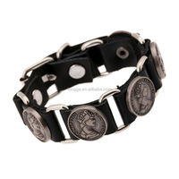 bracelet leather with Europe and the United States jewelry punk bracelet Punk act the role ofing is tasted Leather bracelet