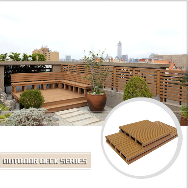 Factory CE,ISO,SGS,TUV Certification wpc terrace decking board