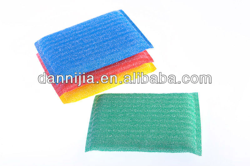 jinhua dannijia 2+2 white stripe kitchen cleaning sponge