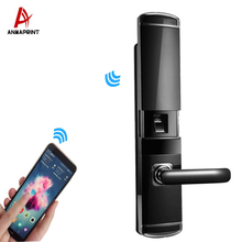 High-tech house security system biometric e lock remote control multi-functional sliding lock