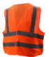 high way security guard wear mesh net fabric safety vest with reflective tape high visibility vest ANSI approval