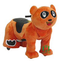 HI animal scooters plush stuffed motorcycle toy walking animal ride for mall electronic game machine