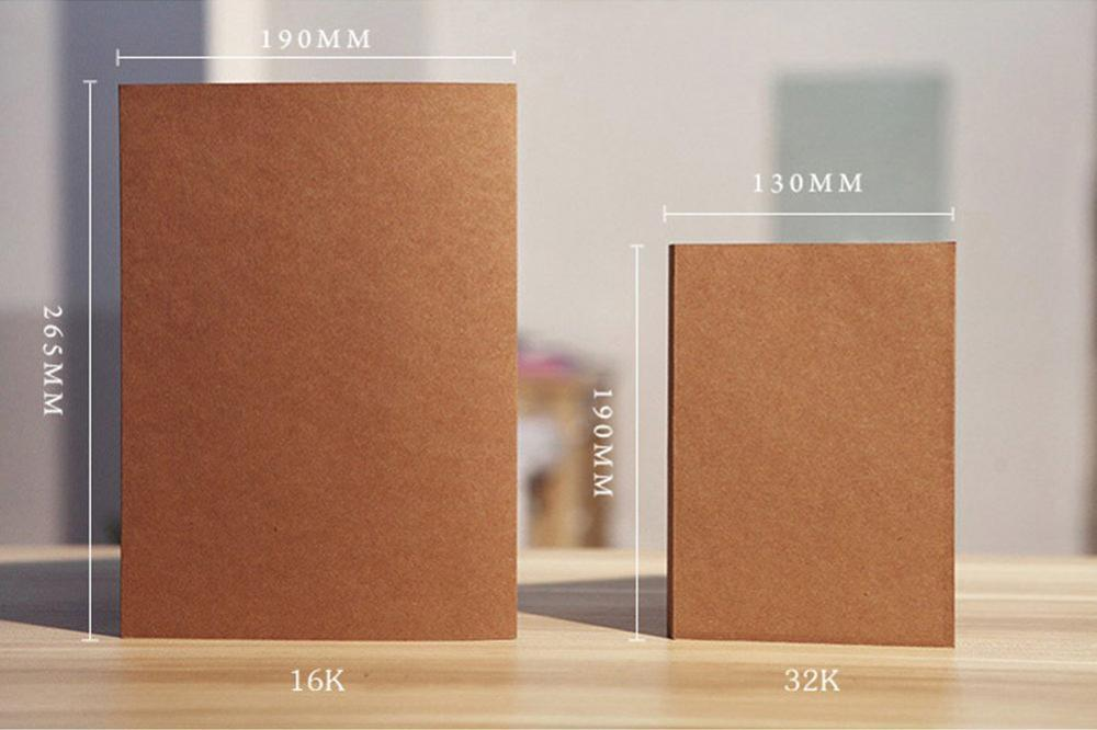 Wholesale A5 32K Journal Custom Plain Kraft Paper Blank Cover Sketch Notebook With Nude Spine Exposed Binding