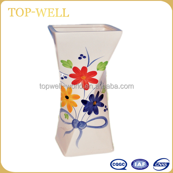 Colorful flower vase ceramic vase