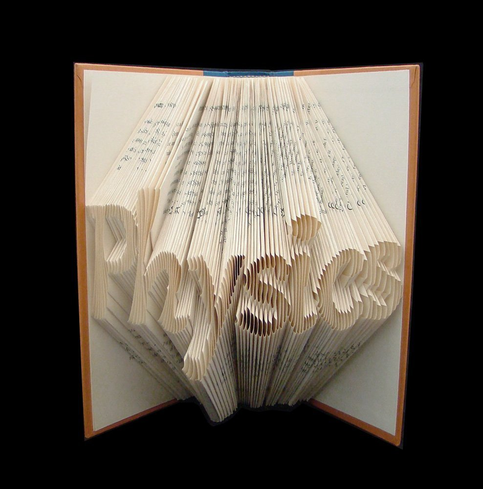 Physics ~ 7 Letter Words ~ Science ~ STEM ~ Graduation Gift ~ Folded Book Art Sculpture (you choose words)