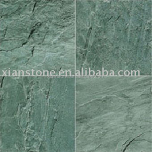 Green slate anti slip floor tile