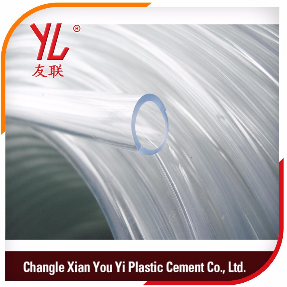 price list for clear transparent milk or beer conveying one layer pvc hose