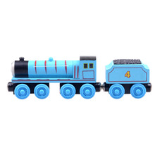 Fashion Baby toys Wooden Magnetic Model vehicle Tomas Railway Train Gordon and his car
