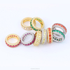 Missjewelry Hot Selling Hip Hop Finger Gold Mens Colorful Stone Unique Design Diamond Ring