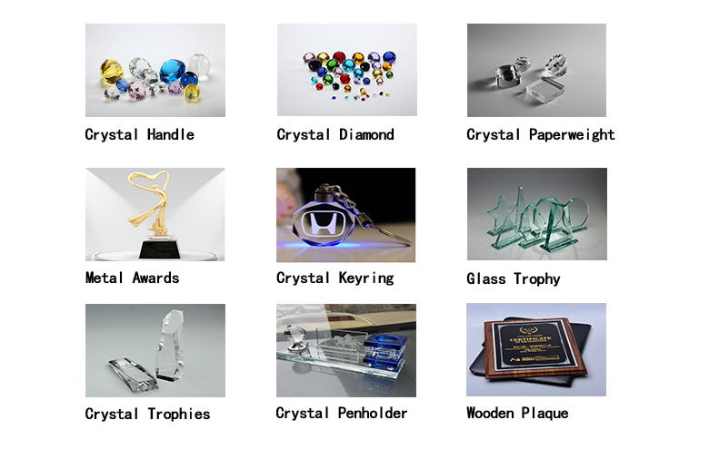Popular Eco-friendly Long Service Life Crystal Trophy With Sandglass For Prize Presentation Awards