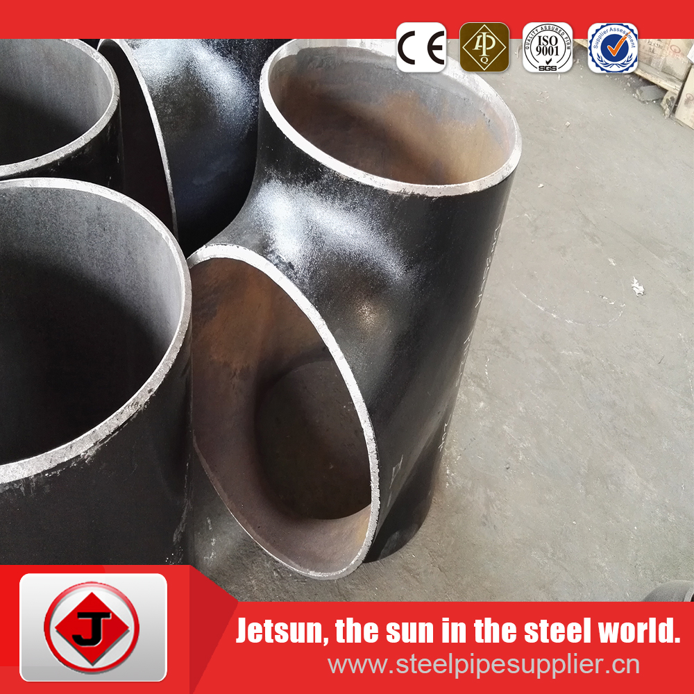butt welded pipe fittings carbon steel equal tee ASTM A234 WPB 1/2'' 48''