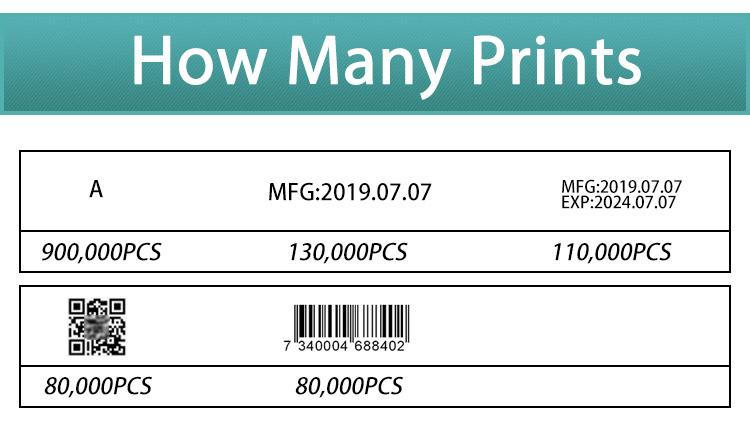 2019 One inch 25.4mm handheld batch code inkjet printing machine